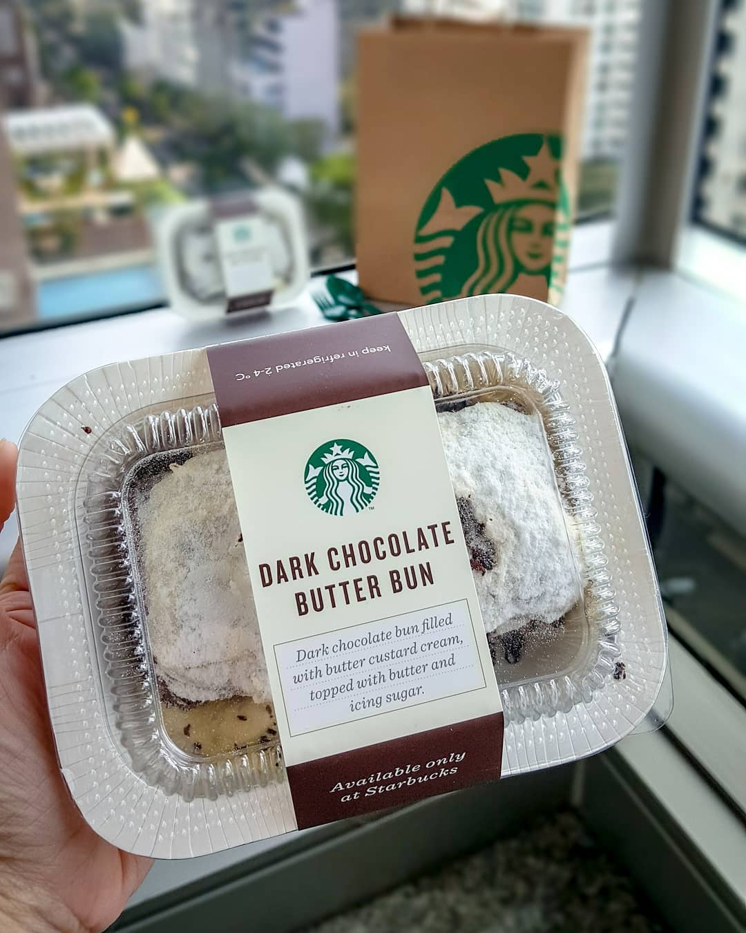 Starbucks Dark Chocolate Butter Bun
