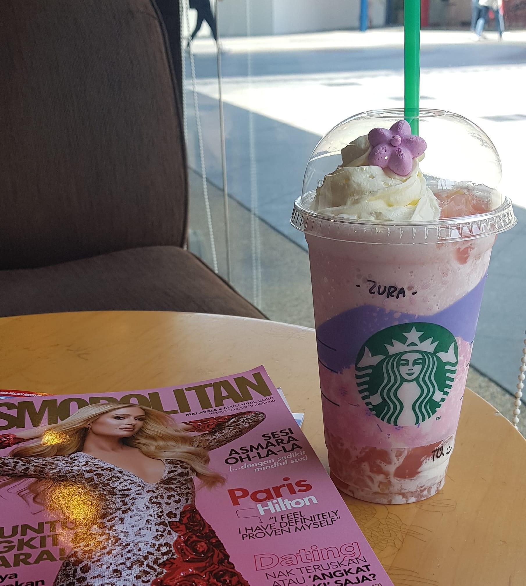 Starbucks Pink Peach Creme Frappuccino