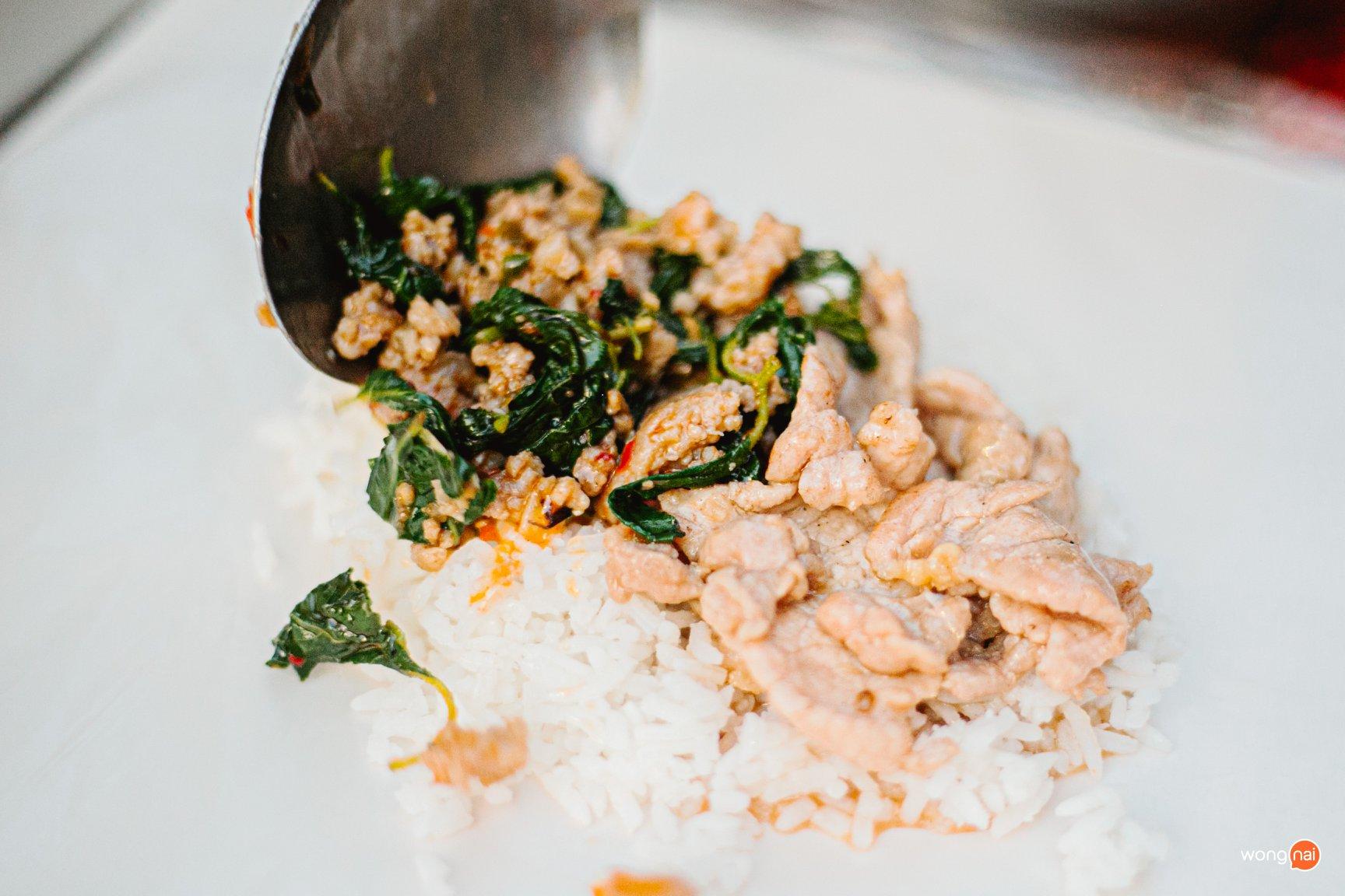 10 Baht Basil Pork Rice Bangkok