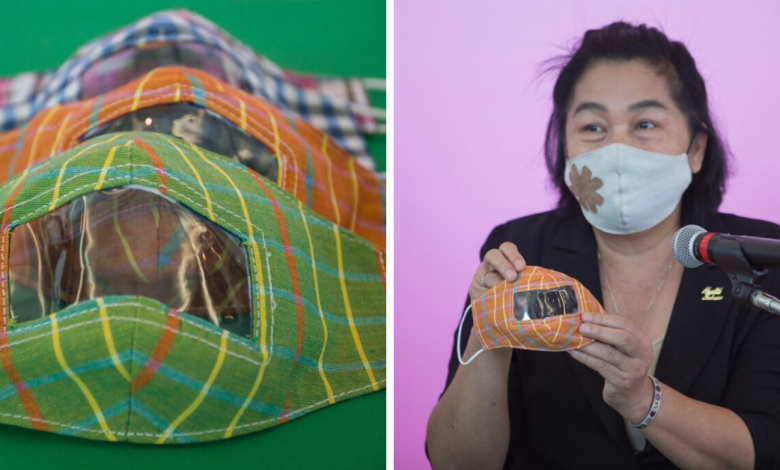 Photo of Thai Govt Creates Special Face Masks For the Deaf That Comes With Transparent Window