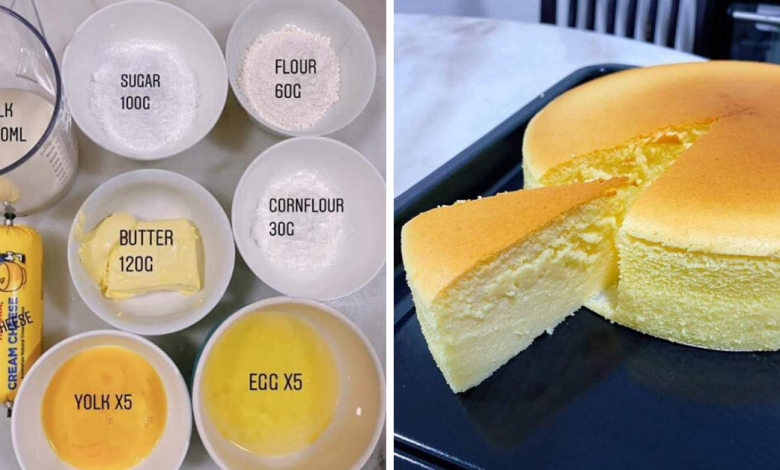 Photo of Here's How To Make Fluffy Japanese Cotton Cheese Cake To Satisfy All Your Cake Cravings