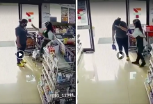 Photo of 7-Eleven Staff Mistakenly Sprays Hand Sanitiser On Customer's Eyes Instead Of Her Hands