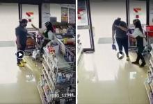 Photo of 7-Eleven Staff Mistakenly Sprays Hand Sanitiser On Customer's Eyes Instead Of Her Hands