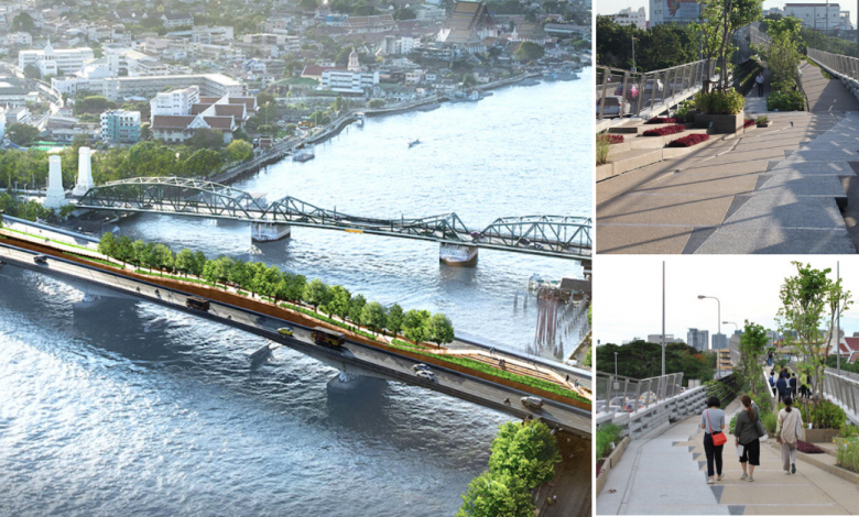 Photo of Thailand's Very First Sky Park Bridging Chao Phraya River Sets To Open By End June