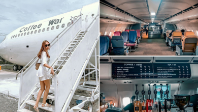 Photo of This New Cafe In Chonburi Is In An Actual Airplane And Has Passenger Seats For Its Guests