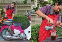 Photo of This Self Taught Barista Sells Quality Coffee From Only $1 On A Pink Vintage Motorbike