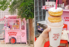 Photo of This Pink Cart In Bangkok Serves Milkshakes Topped With Doughnuts For A Fun Treat