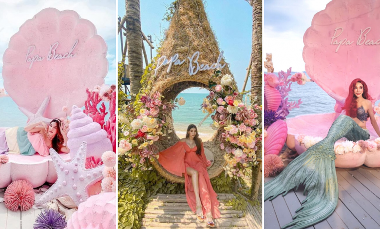 Photo of This Beachside Cafe In Chonburi Has A Mermaid-Themed Photo Booth, Bird Nest Seats And More