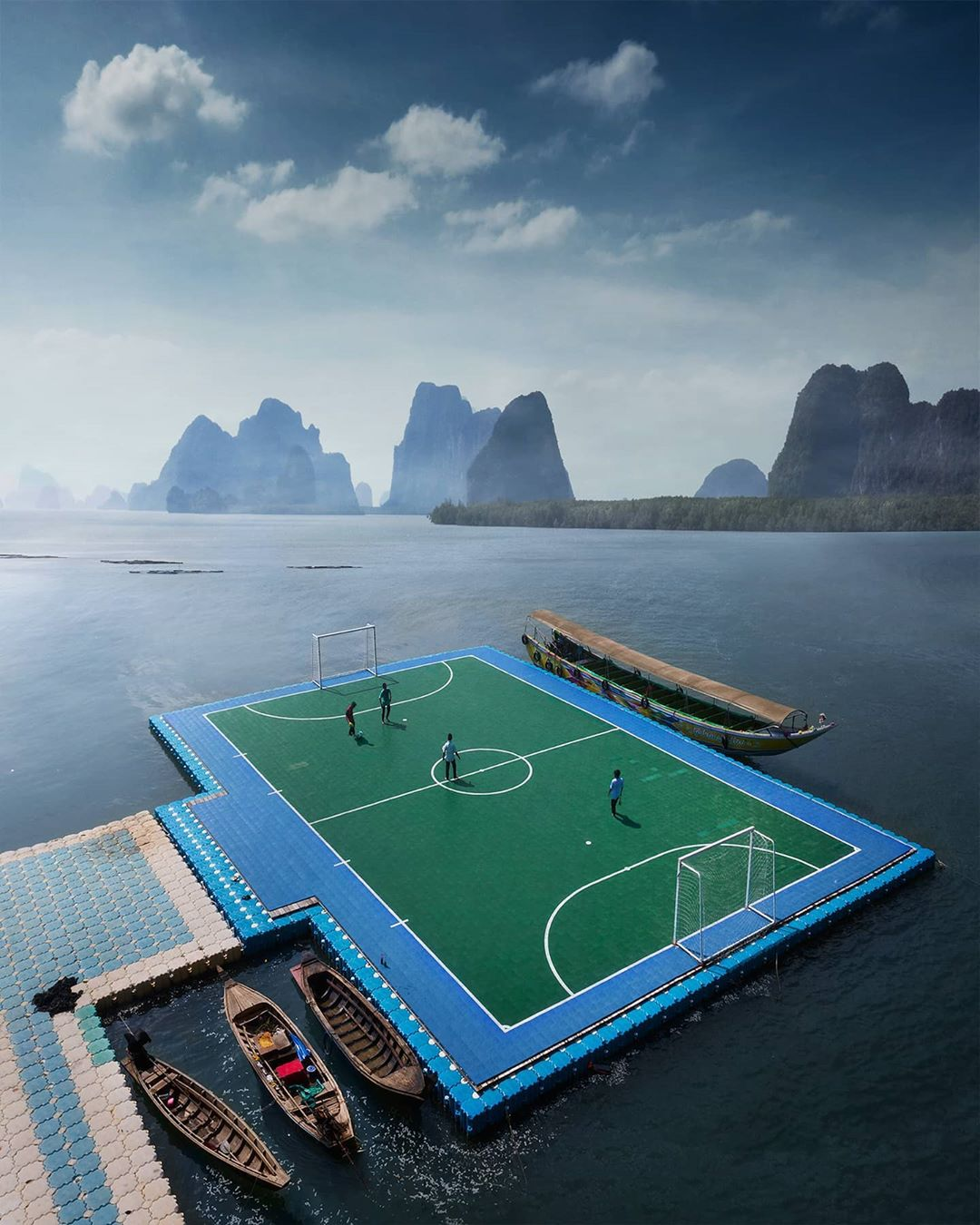 Floating Soccer Pitch Thailand