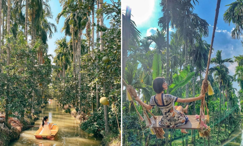 Photo of This Cafe in Thailand is Nestled in a Coconut Garden and It Allows You to Kayak Along The Canal