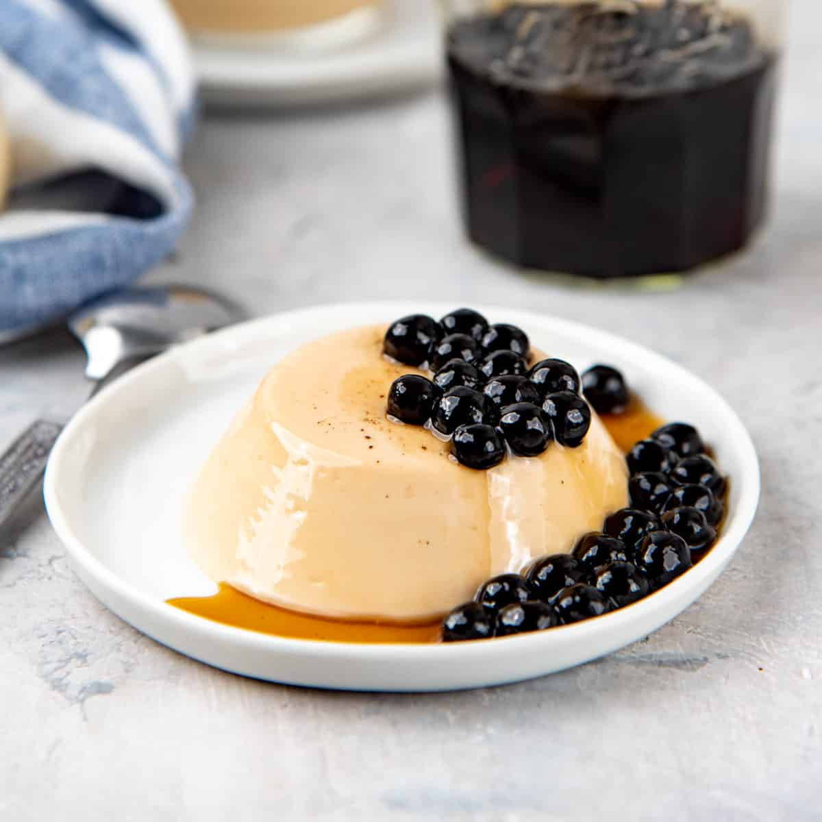 thai milk tea pudding boba