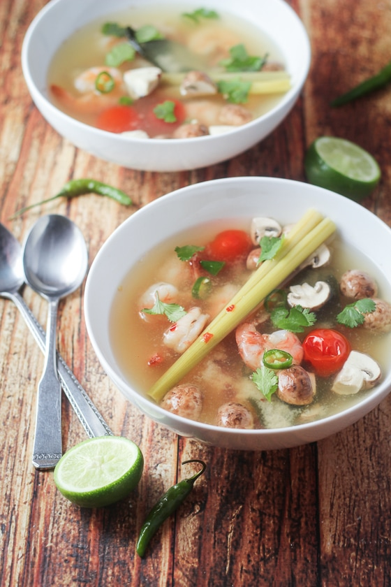 clear tom yum recipe