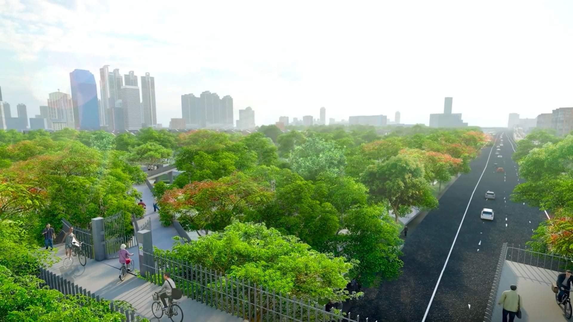 Benjakitti Park Expansion Construction